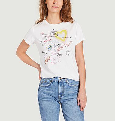 T-shirt imprimé en coton bio Toujours