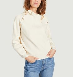 Pull jacquard col montant Marna