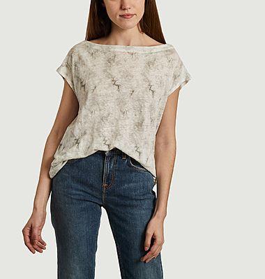 T-shirt col rond imprimé tie & dye