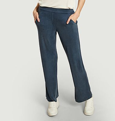 Pantalon ample en cupro stretch