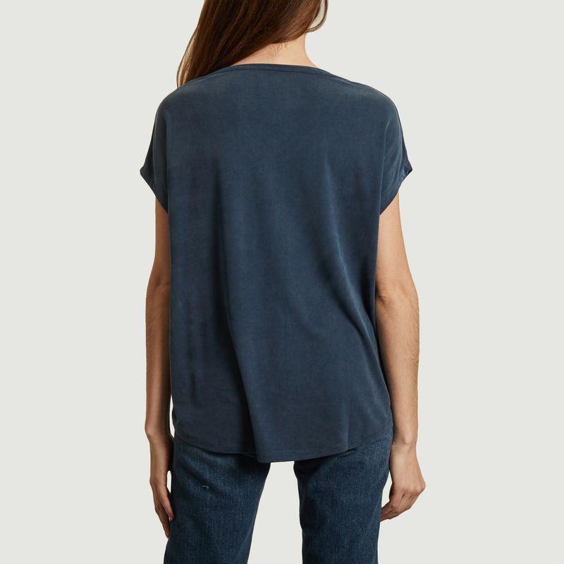 T-shirt boxy col V - Majestic Filatures
