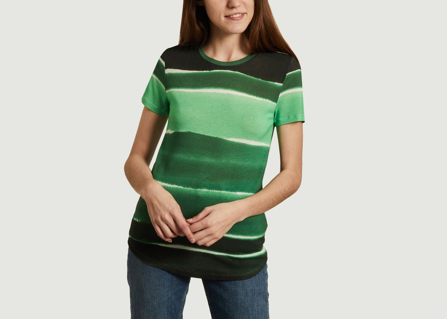 T-shirt à rayures - Majestic Filatures