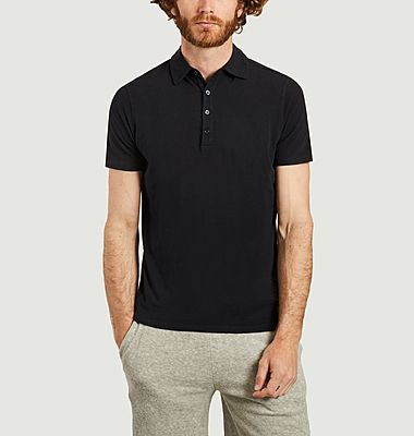Polo droit en coton stretch