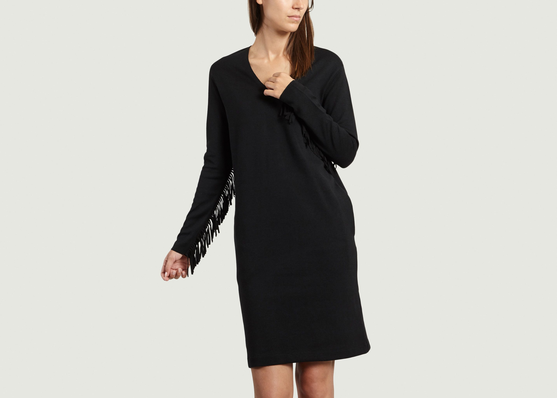 2d1704e189642 Robe à Franges Noir Majestic Filatures