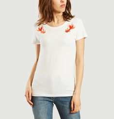 Embroidered Fish T-shirt