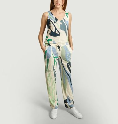 Vegetal Printed Jumpsuit