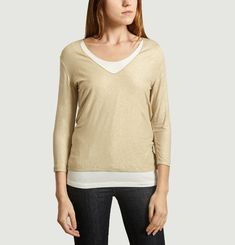 T-Shirt Manches Longues Double Irisé