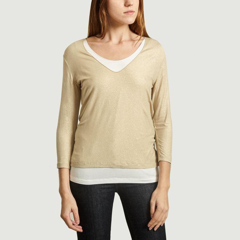 T-Shirt Manches Longues Double Irisé - Majestic Filatures