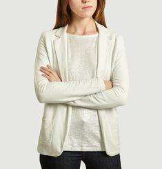 Buttonless Suit Jacket Metallic