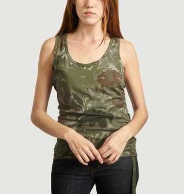 Débardeur camouflage Cindy Bruna x Majestic