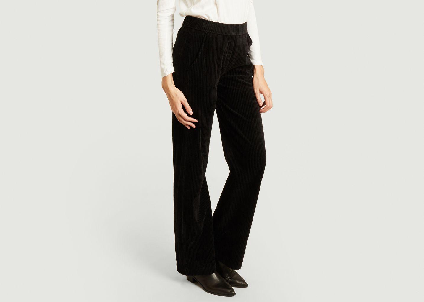 pantalon velours grosse côtes flare - Majestic Filatures