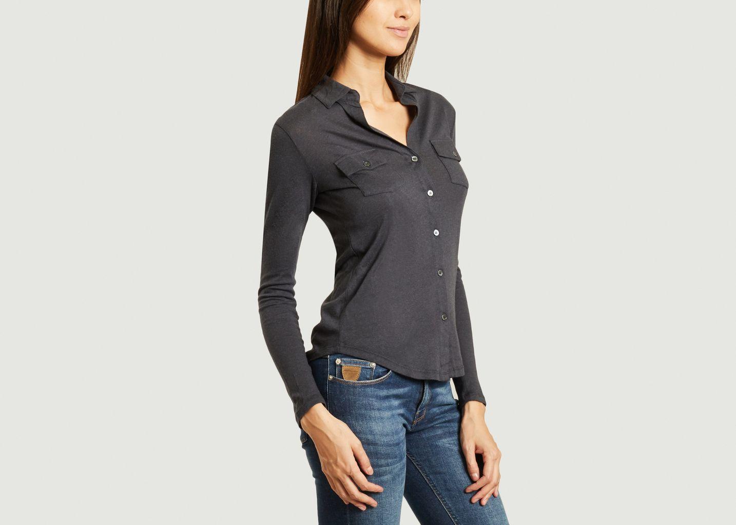 chemise jersey coton cashemire - Majestic Filatures