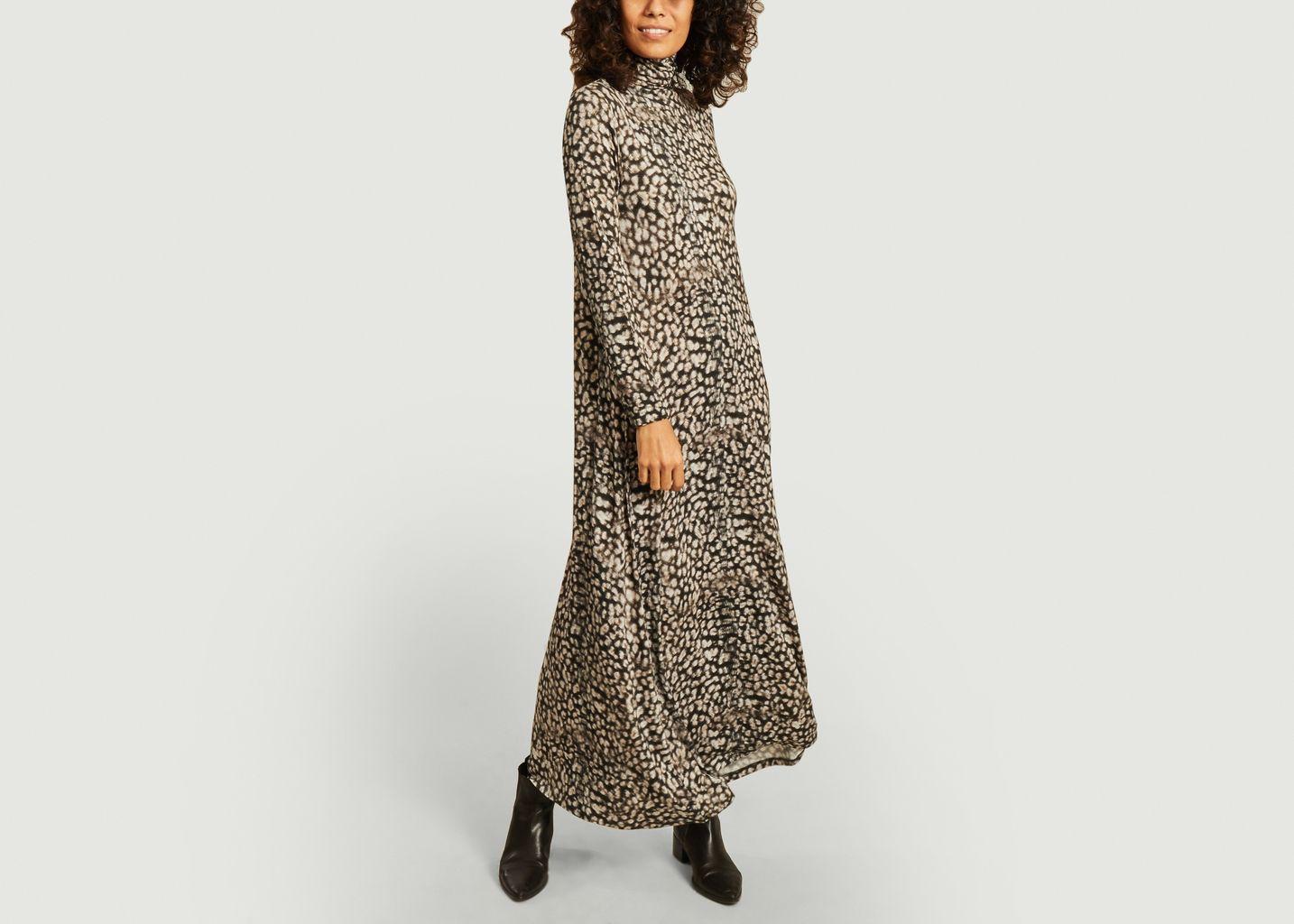 Robe longue manches longues imprimé jaguar - Majestic Filatures