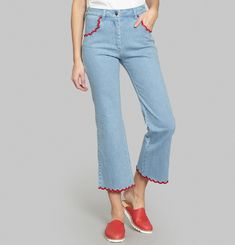 Pantalon Denim coquille