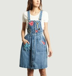 Patches Pinafore Dress