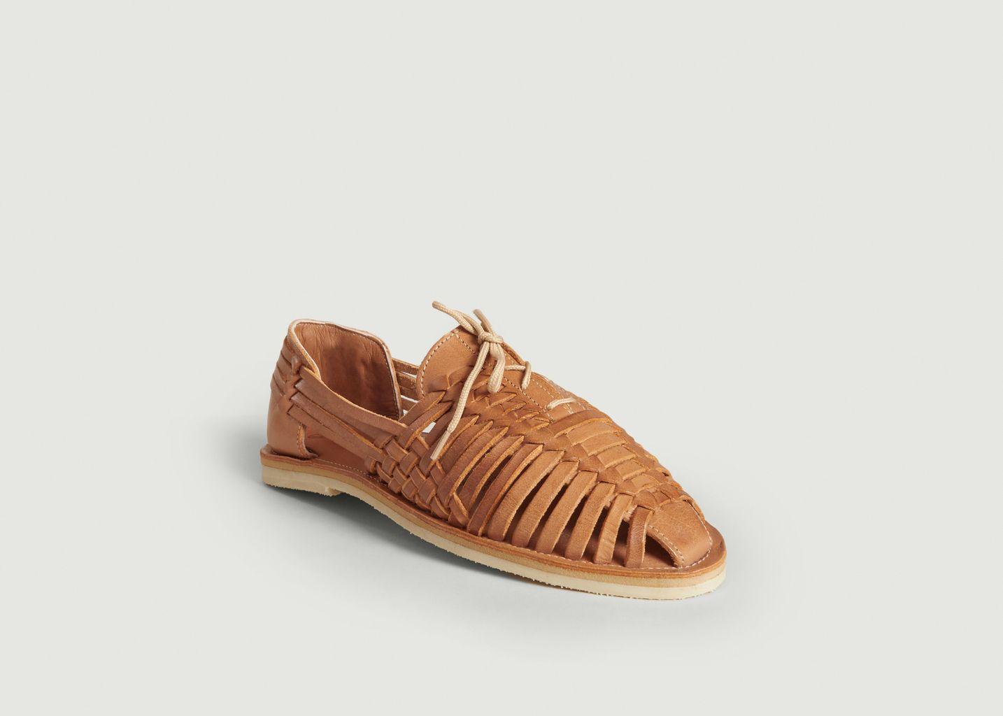 Sandale tressée avec lacets Santana - Mapache
