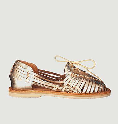 Sandale tressée avec lacets Santana