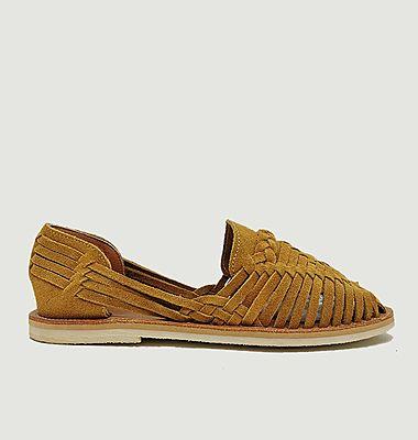 Sandale tressée suède Alegre