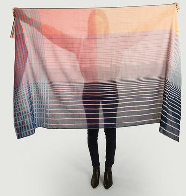 Gradient Striped Scarf
