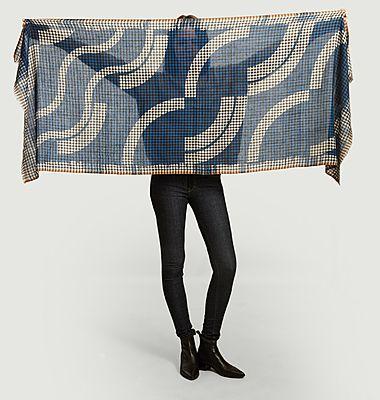 Foulard en laine Hokusai