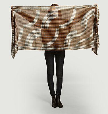 Hokusai wool scarf