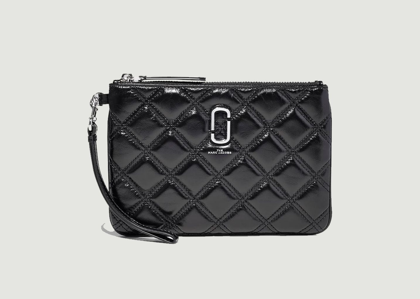 Pochette en cuir The Quilted Softshot Wristlet - The Marc Jacobs