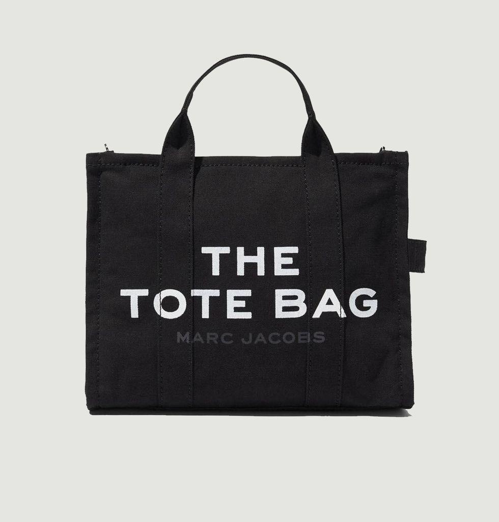 Sac cabas en coton The Traveler Tote Small Noir Marc Jacobs (THE) |  L'Exception