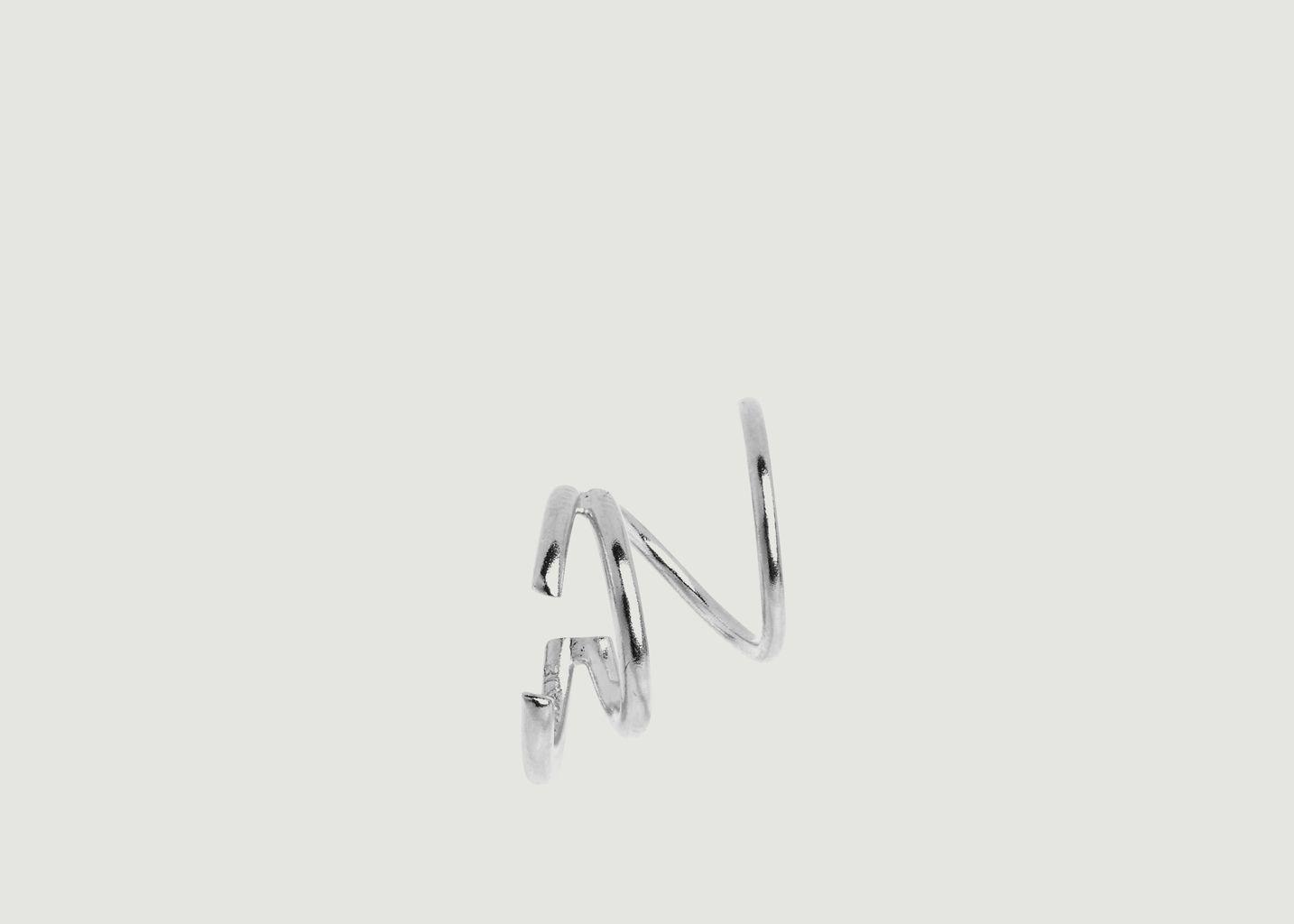 Boucle d'Oreille Bell Twirl Gauche - Maria Black