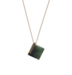 Square Structured Pendant Necklace