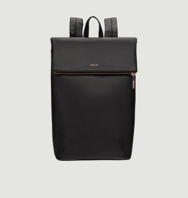 Colton Loom faux-leather backpack