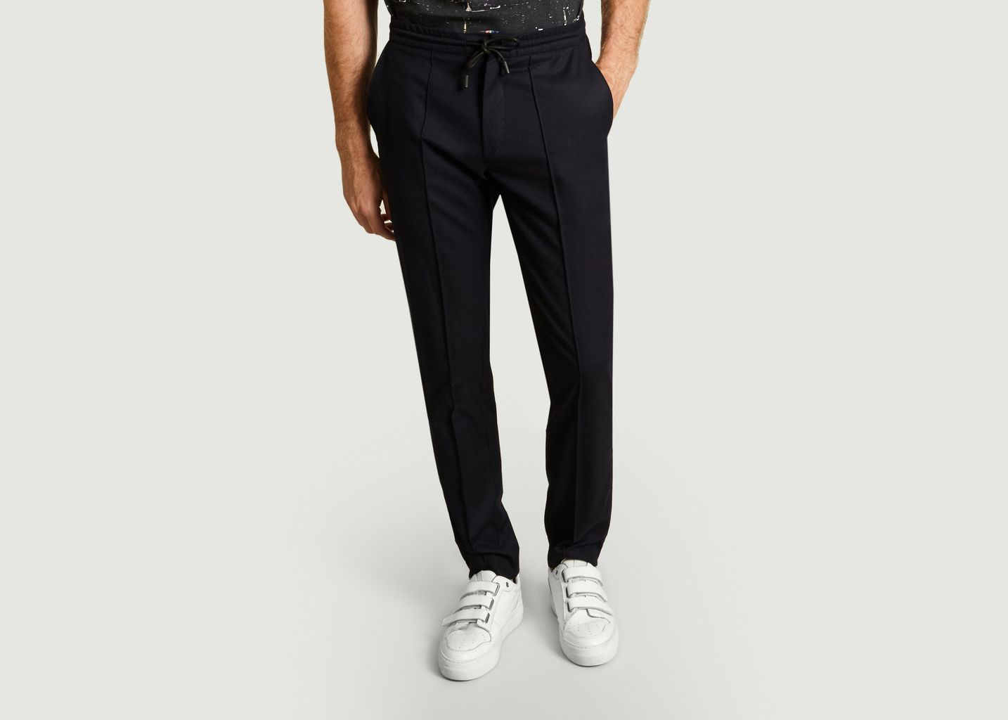 Pantalon Avec Cordon En Twill De Laine - M.X Maxime Simoëns