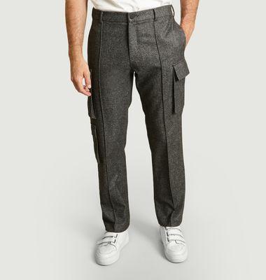 Pantalon Cargo En Twill De Laine