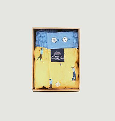 Caleçon imprimé golfeurs en coton