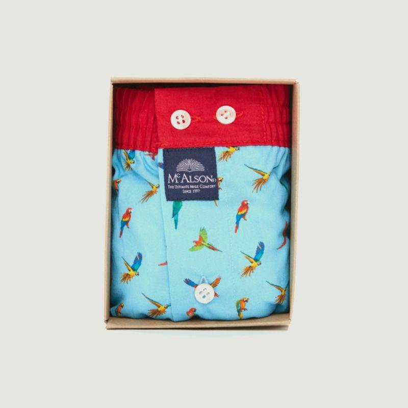 Caleçon à imprimé perroquets  - Mc Alson