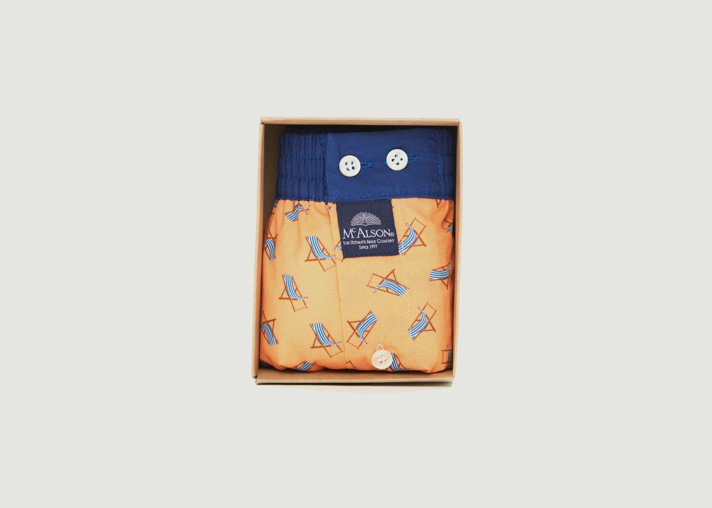 Caleçon en coton imprimé transats - Mc Alson