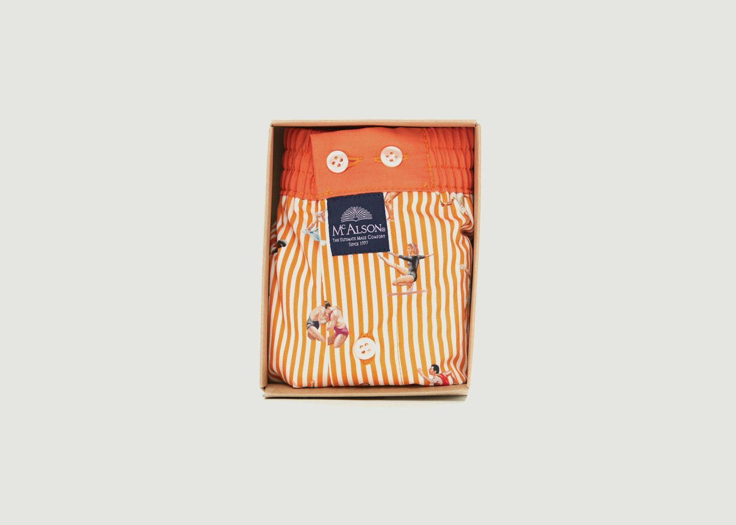 Caleçon rayé imprimé sportifs en coton - Mc Alson