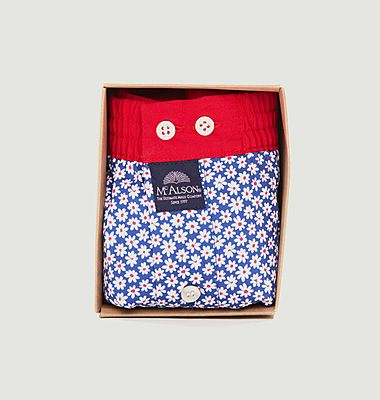 Flower print cotton boxer shorts