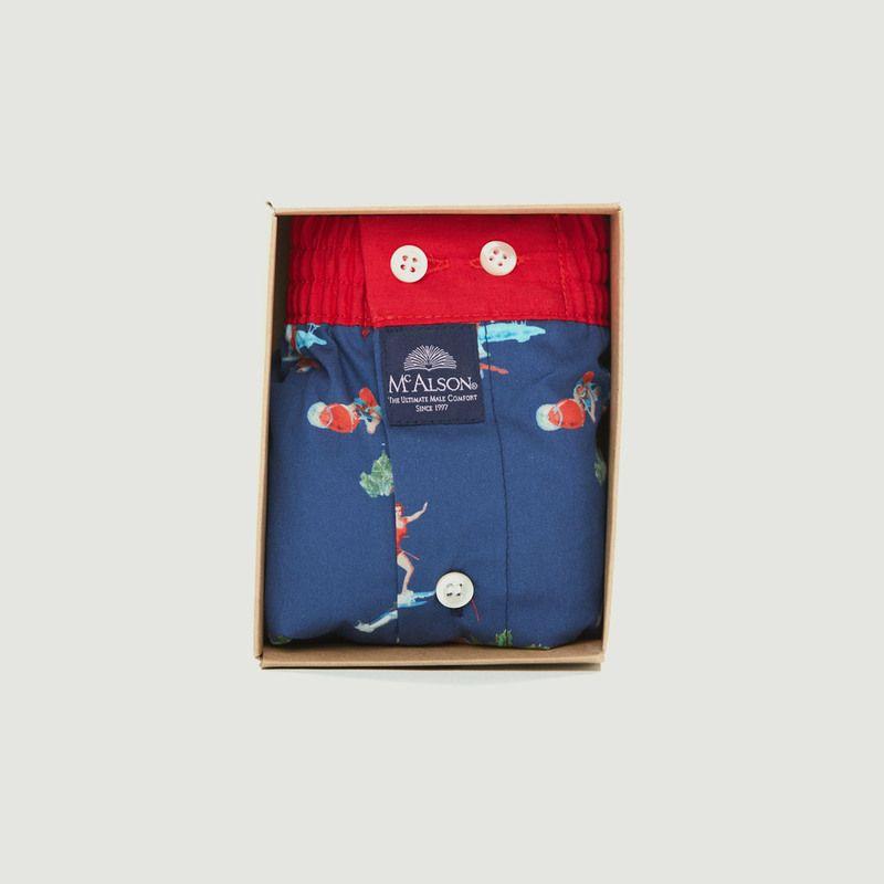 Caleçon en coton imprimé surfeuses - Mc Alson