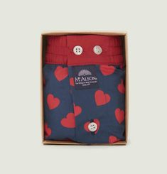 Caleçon Coeur Rouge
