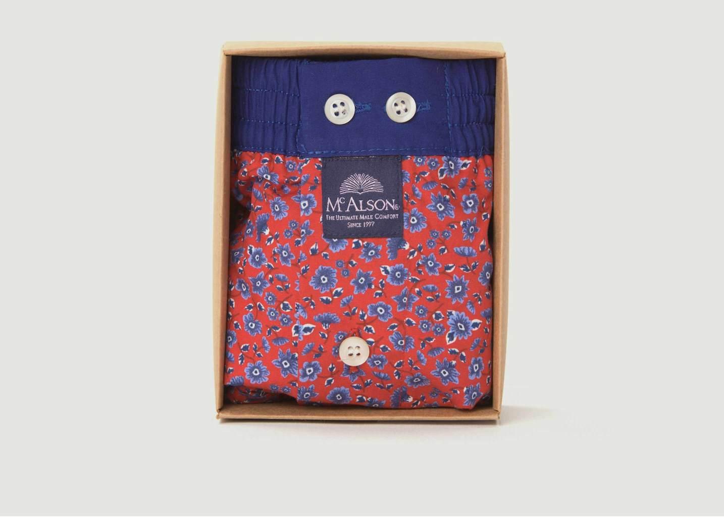 Caleçon En Coton Imprimé Fleuri - Mc Alson