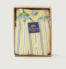 Striped Boxer Shorts With Lemons