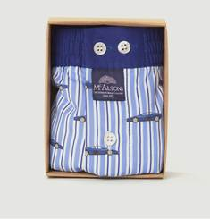 Striped Cotton Boxer Shorts With Cars