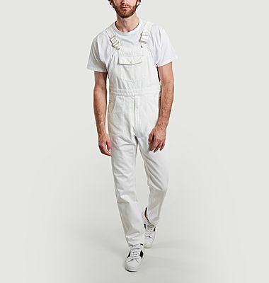 Tinted denim dungarees with pockets