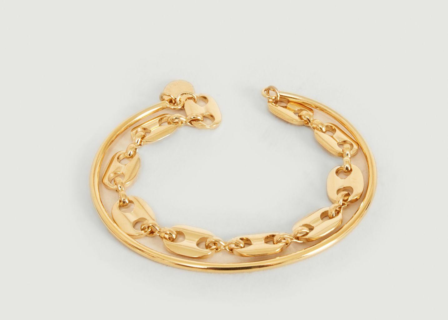 Bracelet jonc double Vaporetto - Medecine Douce
