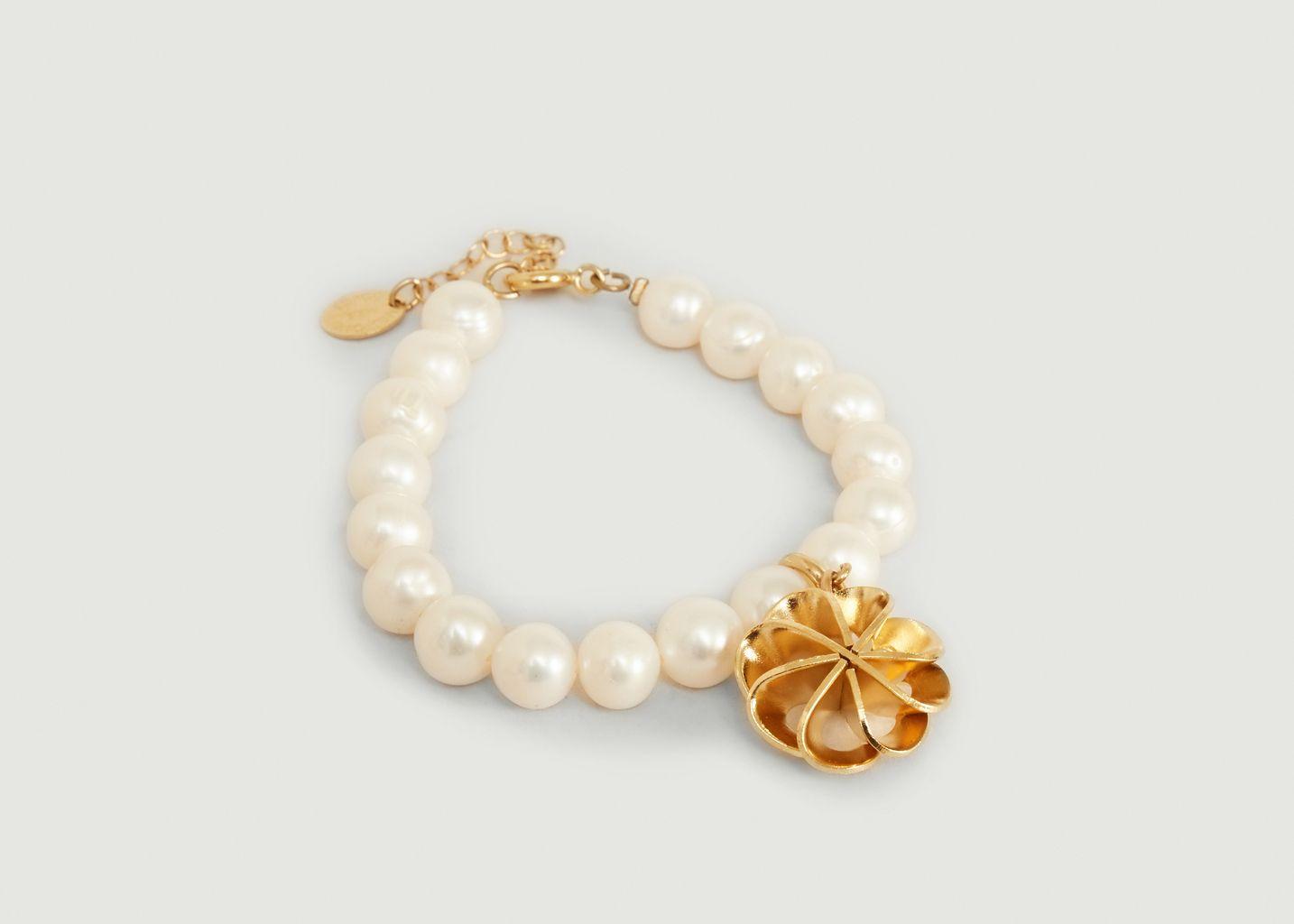 Bracelet perles de culture et charms Vérone - Medecine Douce