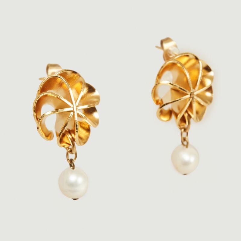 Boucles d'oreilles avec perle de culture Vérone Medium - Medecine Douce