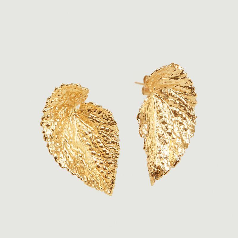 Boucles d'oreilles feuilles Vitis Small - Medecine Douce
