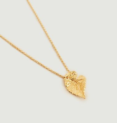 Collier pendentif feuille Vitis Small