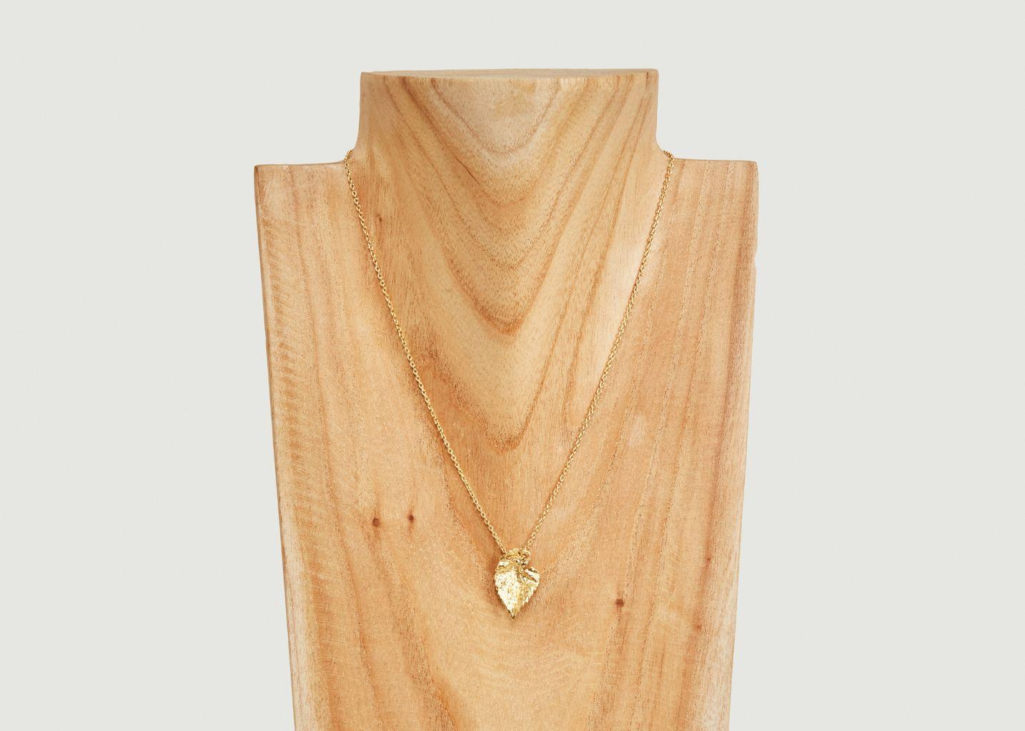 Collier pendentif feuille Vitis Small - Medecine Douce
