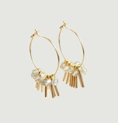 Rain Hoop Earrings